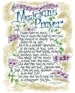 Amazon.com: Musicians Prayer 14 x 11 inch Inspirational ...