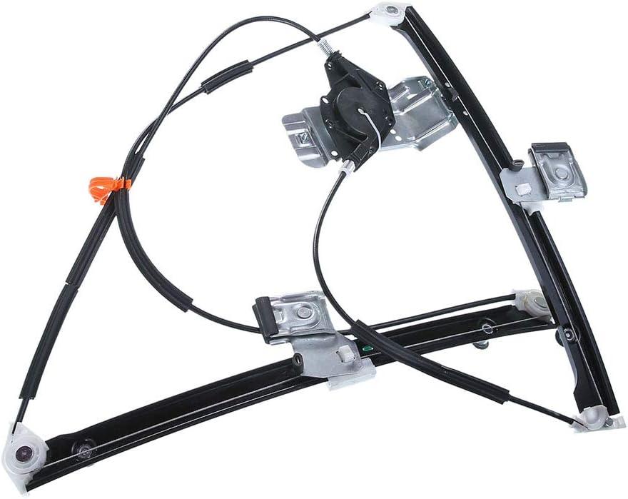 Frankberg Elevalunas el/éctrico sin Motor Delantero Izquierdo para Polo 9N 2//3 Puertas 2001 2009