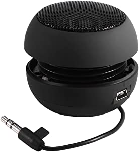 Wireless Speaker, Portable Mini Travel Speaker with 3.5mm Aux Audio Jack Plug in Clear Bass Built-in Battery for Smart Phone, iPad and Computer(Black)