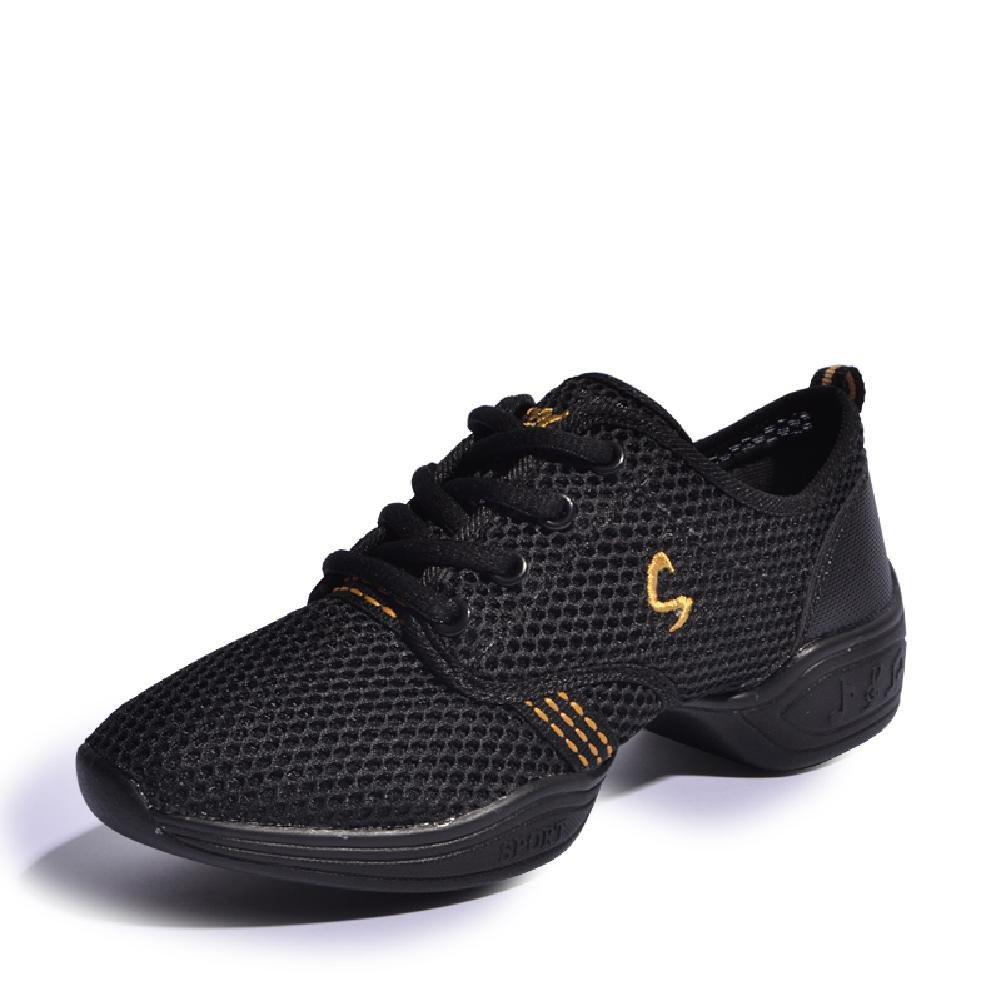 D2C Beauty Women's Summer Dance Breathable Fashion Sneakers - Black Gold 5 M US