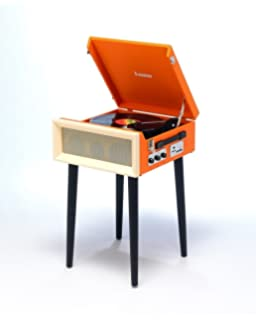 Steepletone Orange SRP1R 16 3 Speed Retro Vinyl Record Player 334578 Turntable
