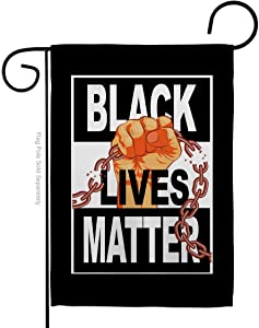 Black Lives Matter BLM Justice Garden Flag Support Cause Anti Racism Revolution Movement Equality Social House Decoration Banner Small Yard Gift Double-Sided, 13