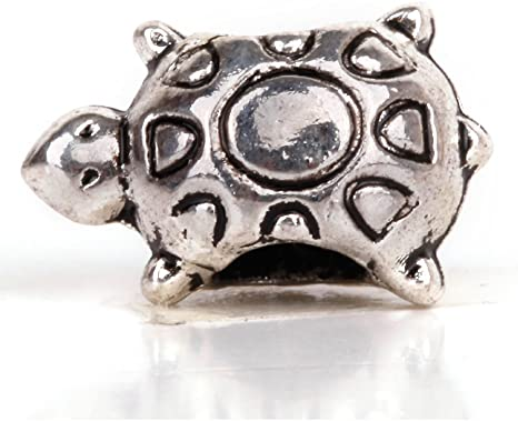 Free Shipping 60pcs Tibet Silver two-sided tortoise Charm Spacer Beads 9x7mm