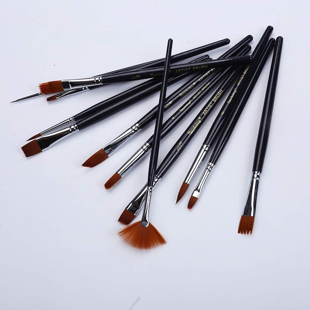 set multifonction aquarelle pinceau kit nylon peinture pour cheveux pinceau artiste acrylique brosse peinture fournitures pour acrylique peinture /à lhuile de haute qualit/é Ogquaton 12pcs