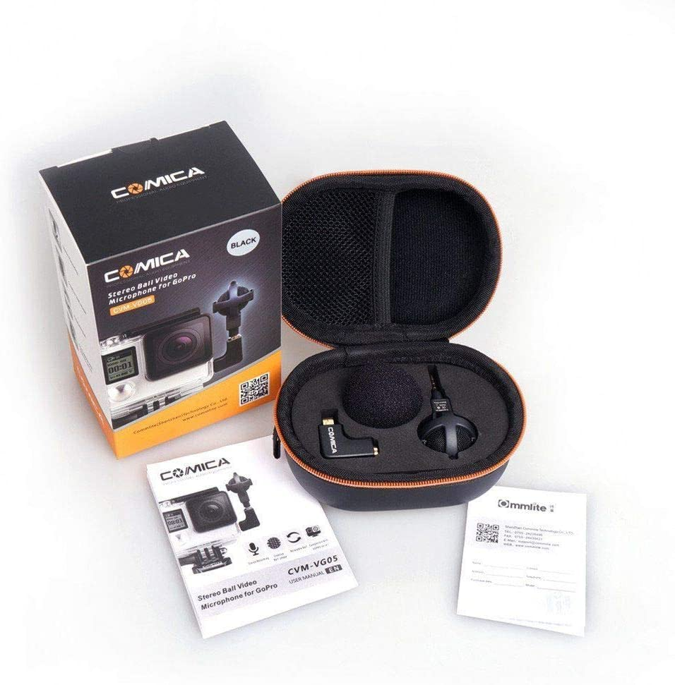 Commlite CVM-VG05 Stereo Video Microphone Black for GoPro Hero 3 3 4 Camera