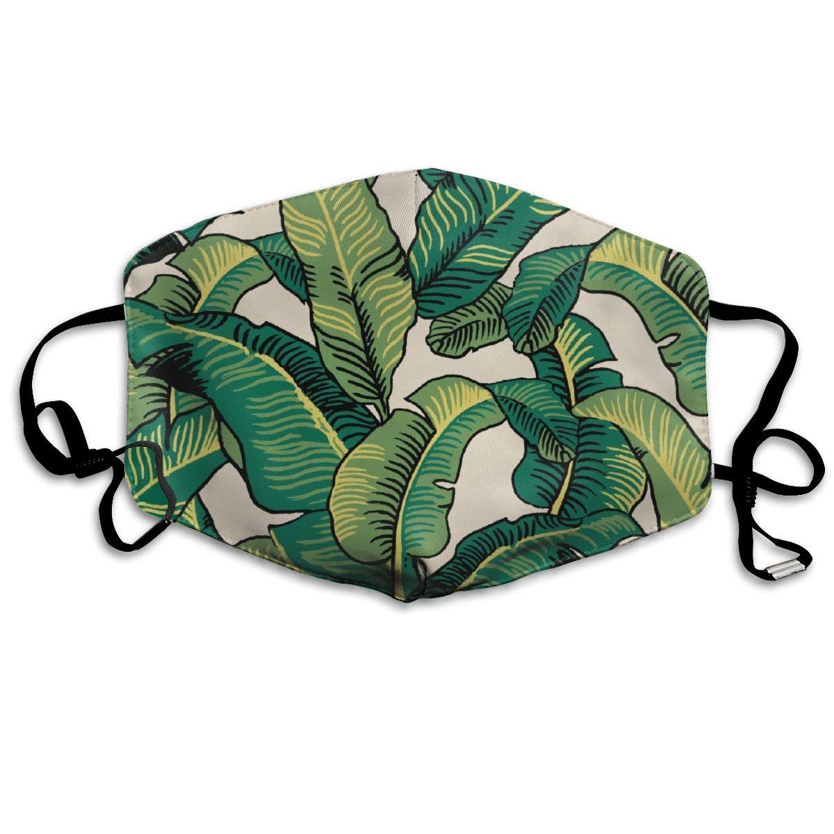 XPEACH Tropical Banana Leaves Washable Reusable Masks Respirator Comfy Protective Breath Healthy Safety Warm Windpro of Mask