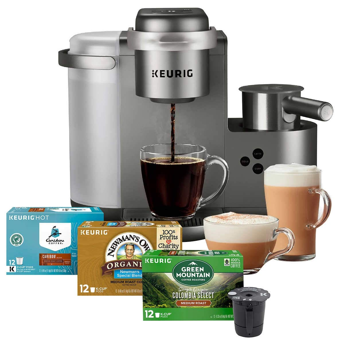Keurig K-Cafe C Single Serve K-Cup Pod Coffee, Latte and Cappuccino Maker, Nickel by Keurig