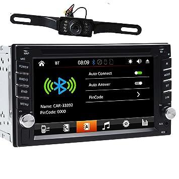 Radio estéreo de doble DIN para salpicadero de coche, 6,2 pulgadas, reproductor