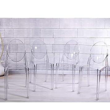 Ghost - Conjunto de 4 sillas de comedor, acrílico ...