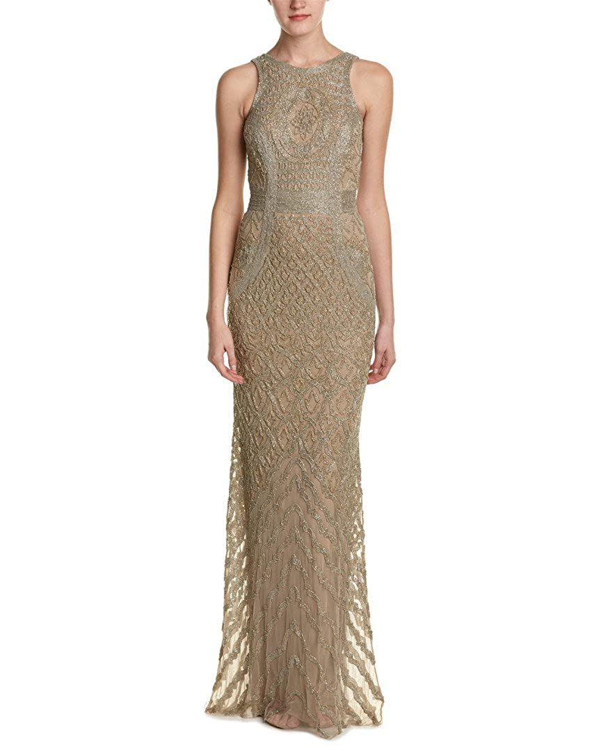 b82985fe58cf Theia Bead Embellished Sleeveless Column Evening Gown Dress at Amazon  Women s Clothing store