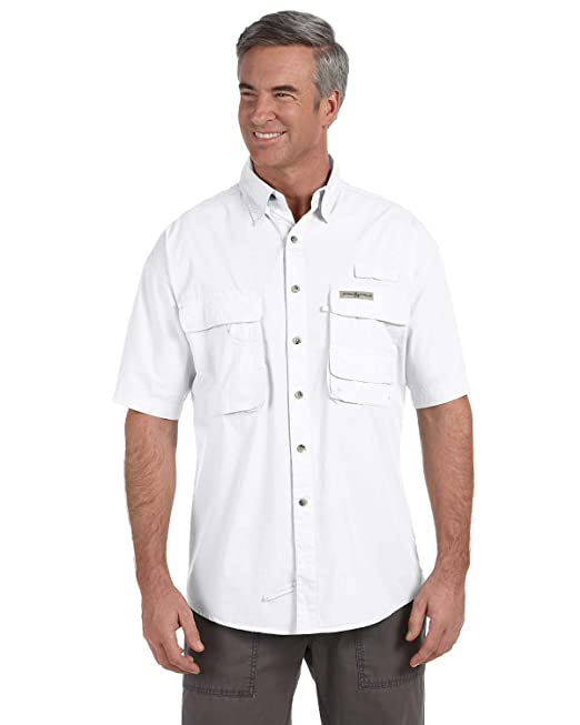0f1af2a7 Hook & Tackle Men's Gulf Stream Short-Sleeve Fishing Shirt - WHITE - S