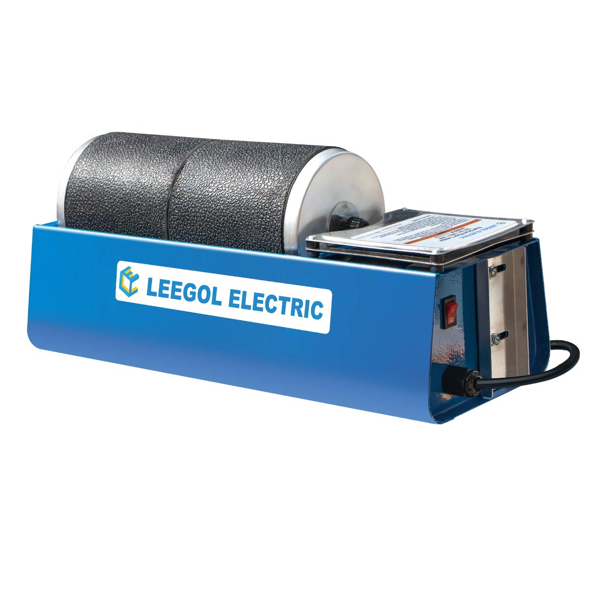 Leegol Electric Rotary Rock Tumbler Double Drum 6LB Lapidary Polisher (Double Barrel) by Leegol Electric