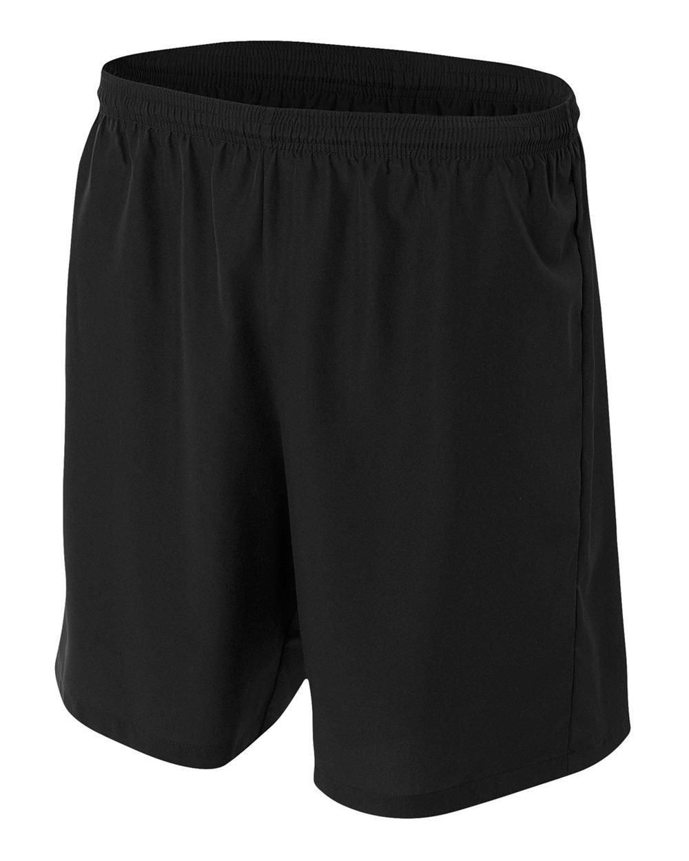 新しいWoven Soccer Shorts Moisture Wicking快適Odor & Stain Resistant ( 6色、子供&大人サイズ10 ) B00SVXQFMA Adult XL|ブラック ブラック Adult XL
