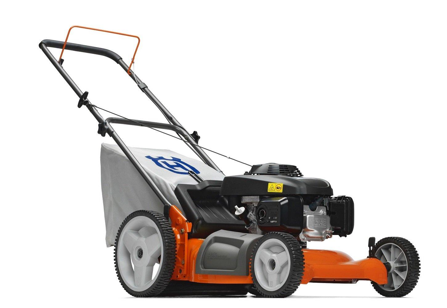 Amazon.com : Husqvarna 7021P 21-Inch 160cc Honda GCV160 Gas Powered 3-N-1 Push  Lawn Mower With High Rear Wheels : Walk Behind Lawn Mowers : Garden &  Outdoor