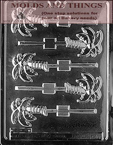 PALM TREE LOLLY chocolate candy mold With Copywrited Candy Making Instruction