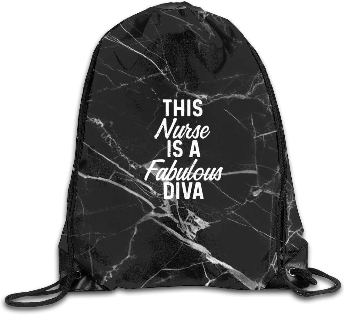 Novelty nurse Drawstring Backpack Workout Bag Sackpack For Men Women