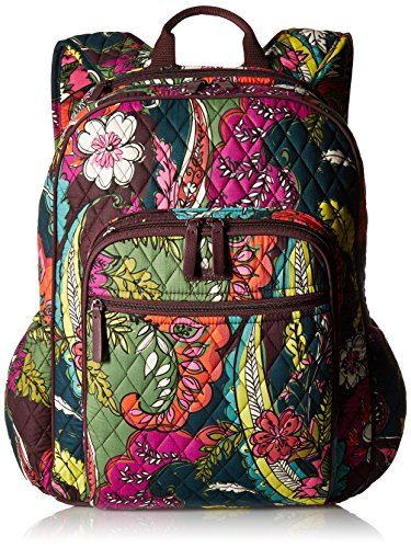 Women's Campus Tech Backpack, Signature Cotton, Autumn Leaves Autumn Leaves Primary