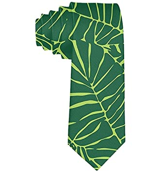 Hombres S Tropical Plant Banana Tree Leaves Corbata Fiesta Boda ...