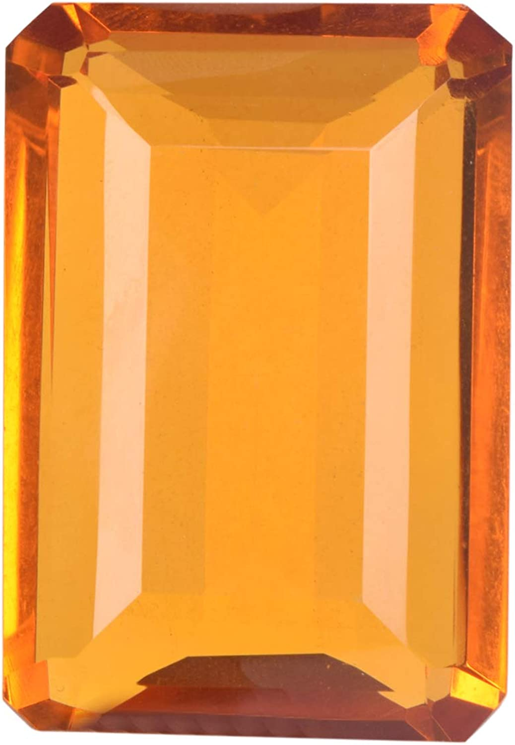 A Grade Yellow Citrine 132.00 Ct Emerald Cut Yellow Citrine Loose, Translucent Citrine Jewelry Making Gemstone