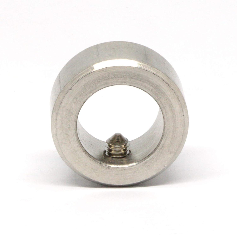 12mm x 8 St/ück Stellring mit Gewindestift Edelstahl V2A Din705 A1 f/ür Welle