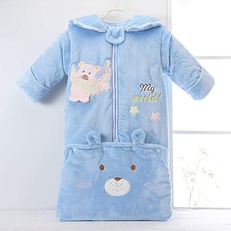 North King - Saco de dormir para bebé, algodón antipolillas, mangas desmontables, para