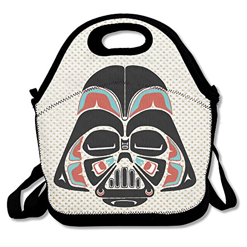[Copdsa Star Wars Mask Insulated Personalized Tote Lunch Food Bag Black] (Costume Ideas For Day Of The Dead)