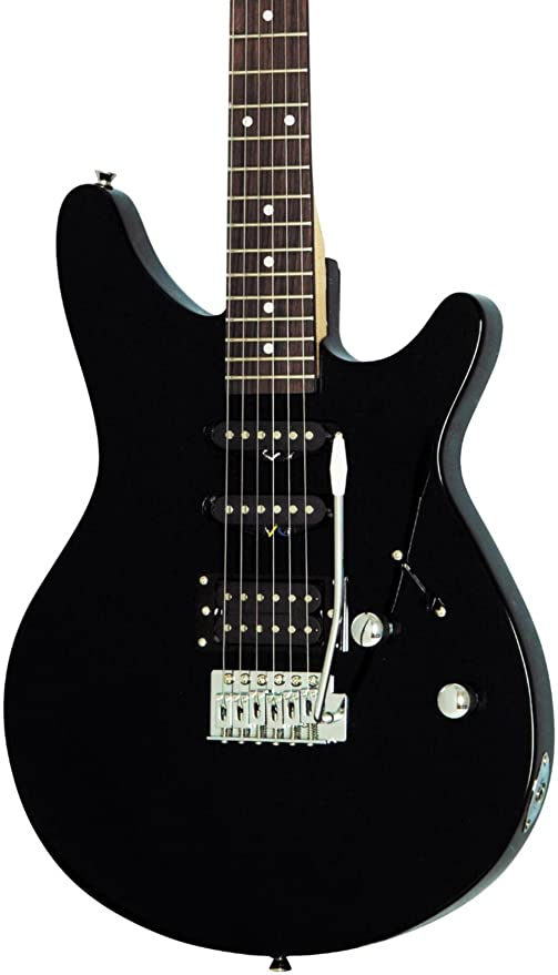 Rogue Rocketeer – Guitarra eléctrica, color negro
