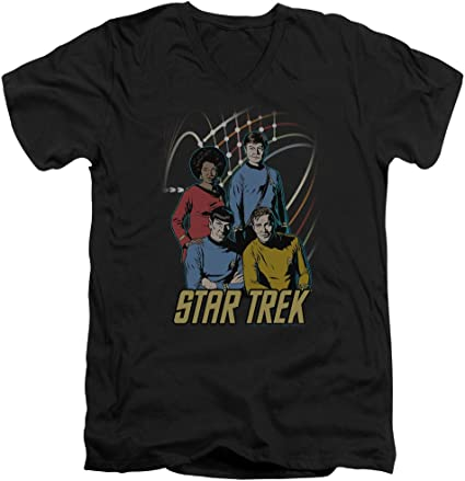 Star Trek Warp Factor 4 Adult Work Shirt