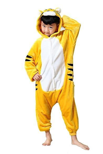 Cliont Kids Animal Onesie Tiger Pyjamas Kigurumi Christmas Child Sleepwear Costume Anime Cosplay