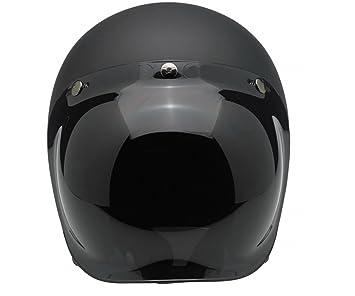 Aftermarket - Visera tipo burbuja ahumada para cascos de moto Biltwell, Bell, DMD,