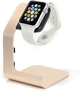 Apple Watch Stand-Tranesca Apple Watch Charging Stand for Series 4 / Series 3 / Series 2 / Series 1; 38mm/40mm/42mm/44mm Apple Watch- Gold