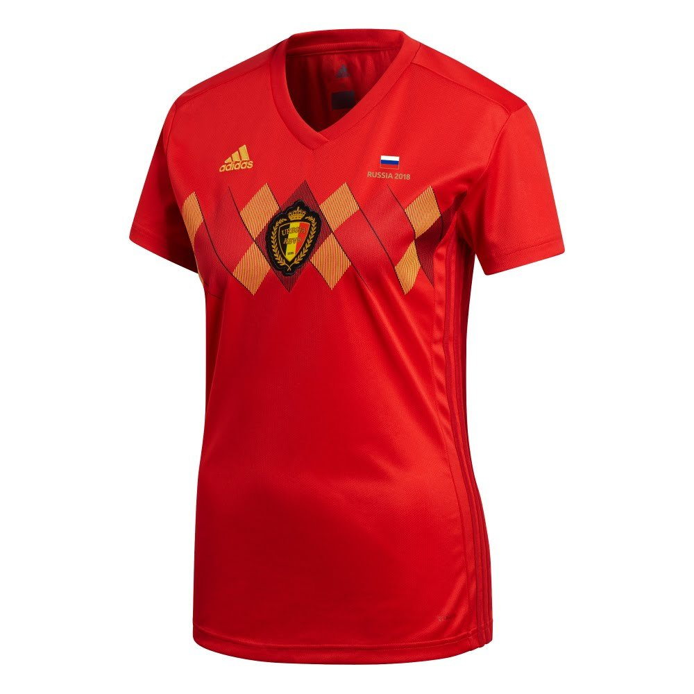 Adidas Belgium Home Womens Jersey 2018 /2019 +無料ロシア2018 Commemorative転送 B077CT52KQ Large