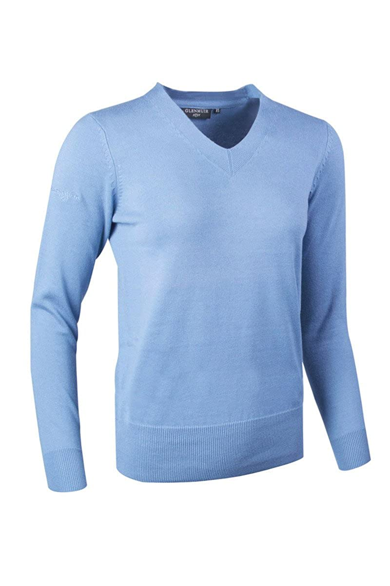 Glenmuir Ladies Yasmin Cotton V-Neck Sweater