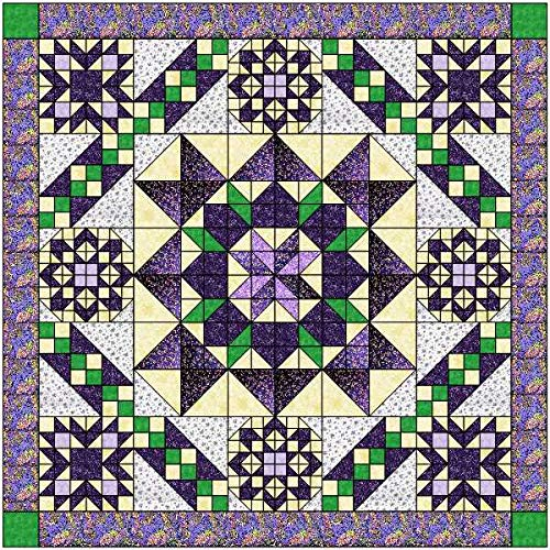 Quilt Kit Hexagon Stars, Purples by Material Maven