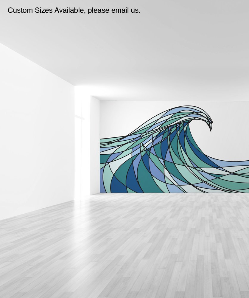 Wall mural decal sticker decani ocean wave color size 48inx83in wall mural decal sticker decani ocean wave color size 48inx83in item mcrespo1304ft amazon home kitchen amipublicfo Images