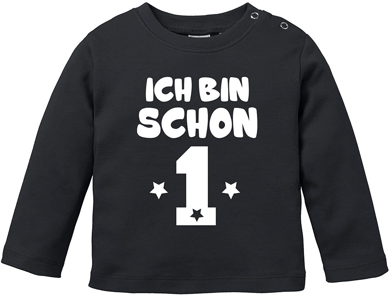 EZYshirt® Ich bin Schon 1   Bio Baumwolle Baby T-Shirt Longsleeve E-LSV-BJ-1893