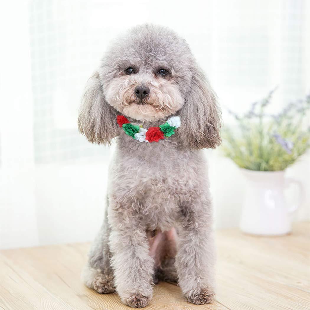 Legendog Collar De Flores De Perro Collar De Perrito De Cuello De Mascota De Fiesta De Dise/ño De Moda