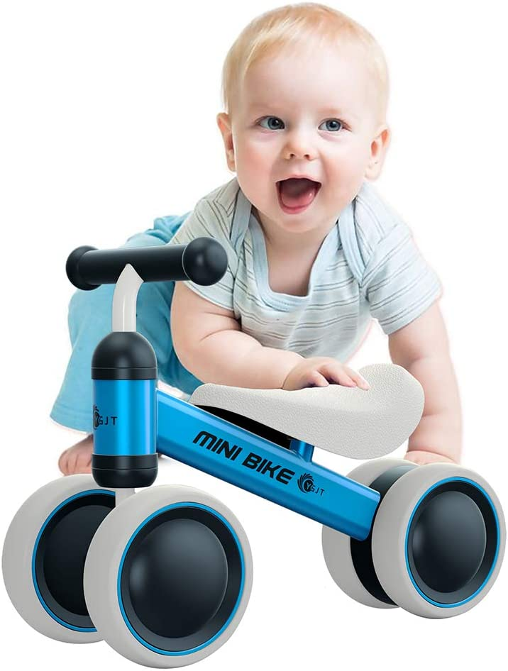 YGJT Baby Balance Bikes Bicycle Baby Walker Rides Toys for 1 Year Boys Girls 10 Months-24 Months Baby's First Bike First Birthday Gift Blue (Blue)