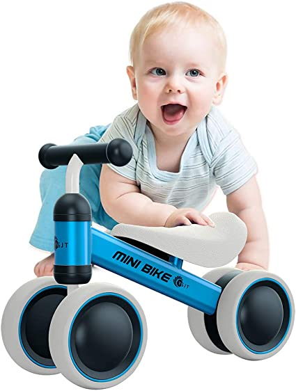 Ideal Gift Choice for First Birthday Ideal Gift Choice for First Birthday Cute Balance Bike for Toddler with 4 Wheels Sturdy Balance Bike Bicycle 6-24 Months BonBonBrothers Baby Balance Bike Pink