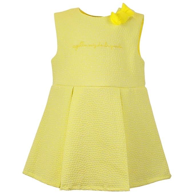 AGATHA RUIZ DE LA PRADA - Vestido sin mangas Yellow, bebé niña, Amarillo (