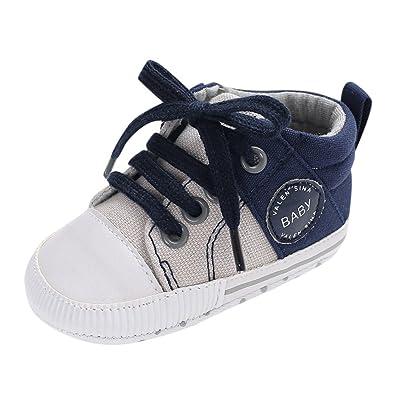 6575a5c74230f Chaussures Bébé Binggong Chaussures Nouveau-né Bébé Garçons Filles Toile  Chaussures À Lacets Crib Prewalker