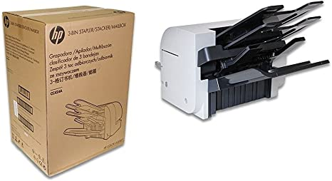Amazon.com: HP cc424 a buzón de impresora con grapadora ...