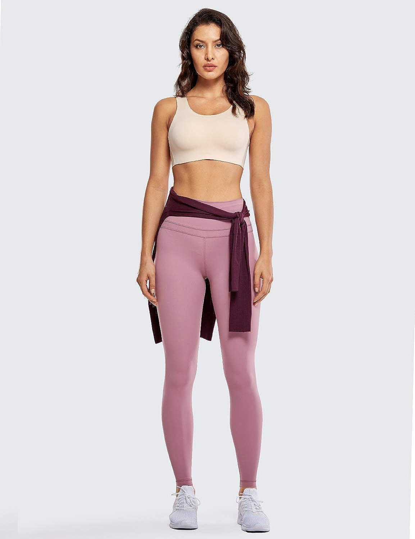 CRZ YOGA Womens Naked Feeling High Waist Lightweight Seamless Sports Yoga Gym Leggings-28 Inches