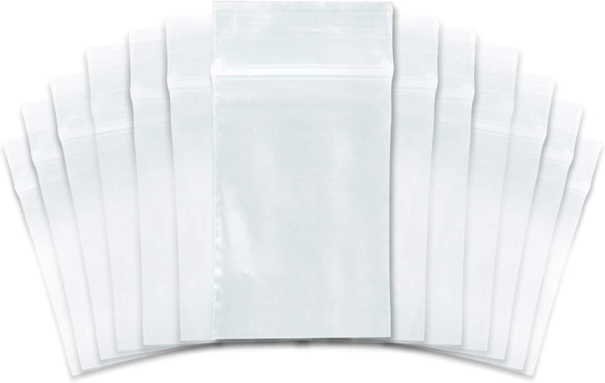 "SNL Quality Zip Lock Reclosable Clear Disposable Plastic Bags, Strong | 2"" X 3"" - 2 MIL - 1,000 Bags"