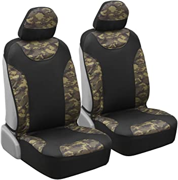 Seat Covers For Trucks >> Waterproof Camo Seat Covers For Truck Car Suv Two Tone Black Camouflage Sideless Front Auto Seat Protectors