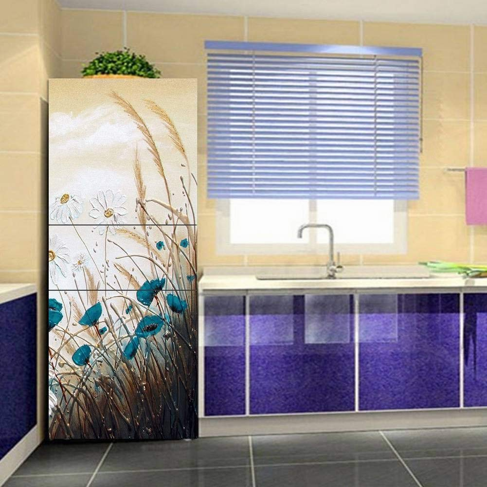 Golden_flower 3D Decorative Painting Diy Self-Adhesive Wall Stickers Refrigerator Stickers