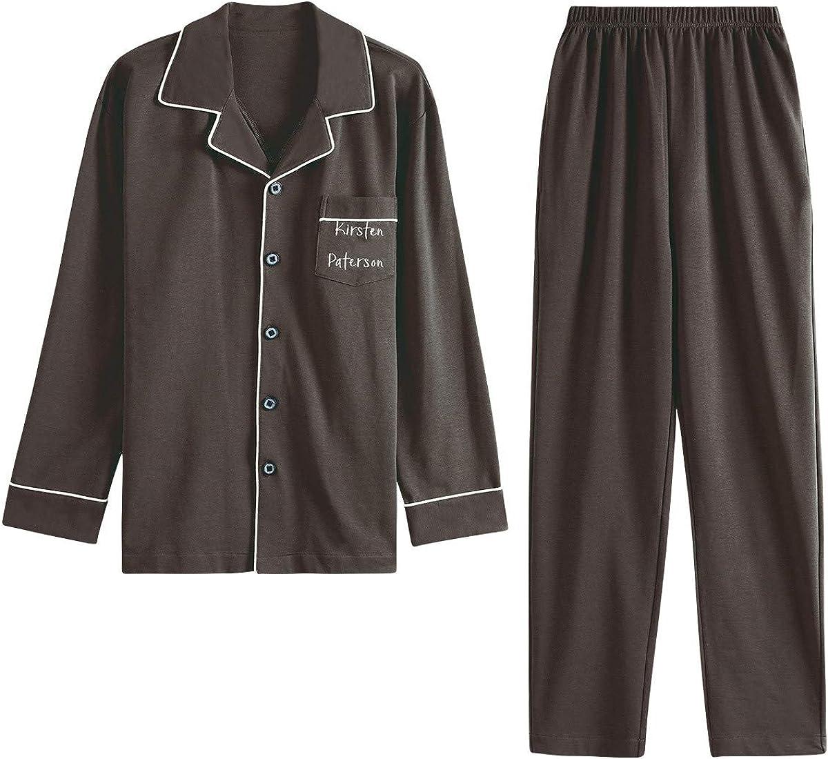 GOSO Jungen Schlafanzug Pyjama Set Schlafanzug Jungen 9 10 11 12 13 14 15 Jahre Button Schlafanzug warm Winter f/ür Teenager Jungen Langarm Big Boy Nachtw/äsche