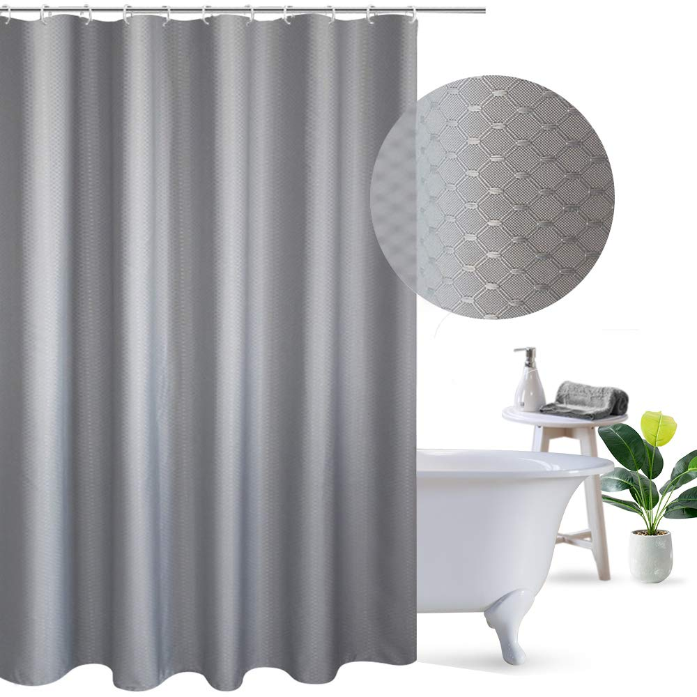 Elegant Design Fabric Shower Curtain Honeycomb for Home//Hotel 36 x 72 A05314 Stall Size UFRIDAY Waffle Weave Polyester Shower Curtain Mildew-Resistant and Waterproof with Rust Proof Metal Grommets Beige