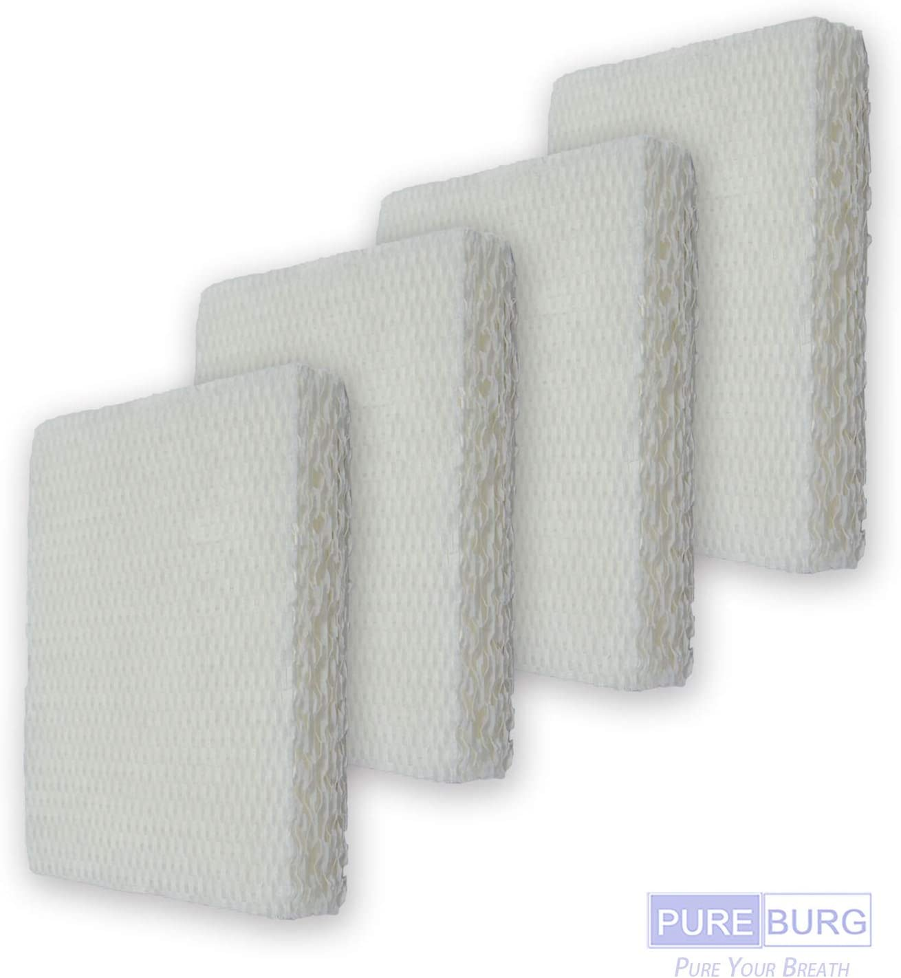 PUREBURG 4-Pack Replacement Humidifier Wick Filters Compatible with Honeywell HFT600 Fits HEV615 and HEV620 Series Top Fill Tower humidifier,Filter T