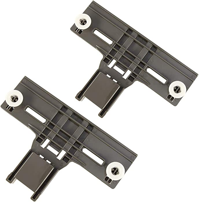 2 Packs W10350375 W/ 1.25 Inch Diameter Wheels Dishwasher Top Rack Adjuster for Whirlpool Kitchenaid Kenmore Replaces W10712395 W10712395VP 3516330 AP5957560 (Redesigned for Heavy Duty Wheel Support)
